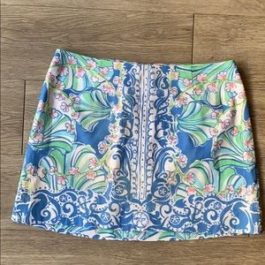 Lilly Pulitzer Blue and White Skirt